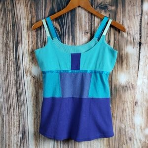 Lululemon Tank Top Double Strap Athletic Teal